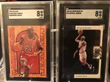 95-96 Michael Jordan Flair Hardwood Leader & UD SP Grade 8 SGC Lot