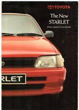 Toyota Starlet 1.0 3-dr 1990 UK Market Foldout Sales Brochure