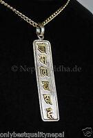 "Amulett Buddha Silber Anhänger ""OM MA NI PE ME HUNG"" Nepal Mantra Tibet 50"