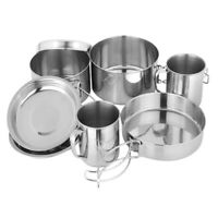 8Pcs/Set Backpacking Camping Cookware Hiking Cookware Set Lightweight FoldiD3L6