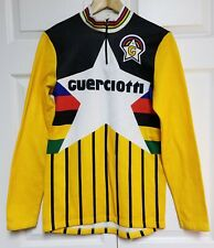 Guerciotti Cycles Star Long Sleeve Cycling Jersey Yellow w/ Stripes - Size Large