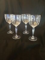 Waterford Marquis Omega 8 7/8 Water Wine Glasses Set Lot of Four (4)