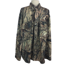 Cabelas Mossy Oak Mens 2XL Waterfowl Guide Duck Blind Hunting Shirt Vented LS