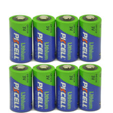 (Pack of 8) PKCELL 123A CR123A CR17345PL123A 3V Camera Photo Batteries EXP. 2028
