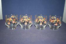 4 Autumn Leaf 9 oz Juice or Rocks Glasses