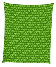 "Lucky Clovers Mircofleece Throw Blanket 50""x60"""