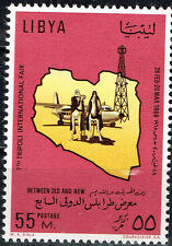 Libya Petroleum Oil Exploration Camel Map stamp 1968 MNH