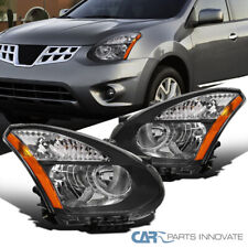 For 08-13 Nissan Rogue Select Black Headlights Lamps Turn Signal Left+Right