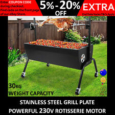 New ELECTRIC CHARCOAL BBQ SPIT ROASTER ROTISSERIE Roast Grill Rotisseri Chicken