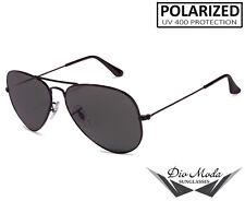 Polarized Lens Black Frame Aviator Sunglasses for Driving    Sports    UV400
