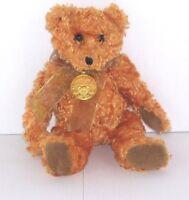 "Ty 100 Year Anniversary ""Teddy"" Bear Gold Medallion 2002 Beanie 8"" Collectible"