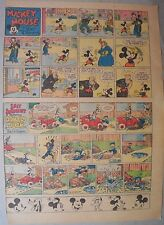 Mickey Mouse Sunday Page by Walt Disney from 1/24/1937 Tabloid Page Size