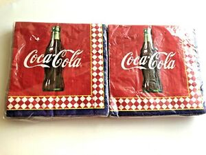 2 Packages Coca Cola Paper Napkins Hallmark Party Express 20 in Each NEW