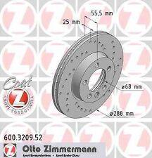 Disque de frein avant ZIMMERMANN PERCE 600.3209.52 FORD GALAXY WGR 1.9 TDI 90 11