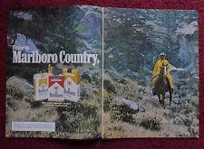 1978 Print Ad Marlboro Man Cigarettes ~ Western Cowboy Riding Horse Grassy Hill