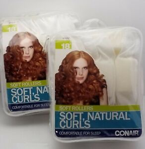 Hair Rollers Soft Conair White Foam Fabric Rollers 2 Packs of 18 Each