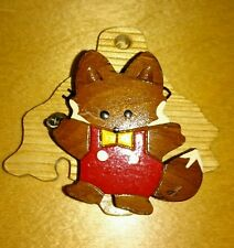 Japan Hokkaido Fox Fridge Magnet Souvenir  Gift 1 only, with clip and tiny bell