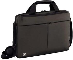 """Wenger FORMAT 16"""" Laptop Slimcase Padded Laptop and Tablet Pocket Grey 10 Litre"""