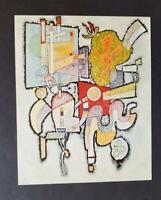 "Wassily Kandinsky ""Ambiguity"" Mounted Offset Lithograph Limited ed. 1975"