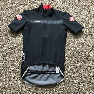 Castelli Gabba Rosso Corsa Jersey Black Mens M Soft Shell Gore Wind Stopper