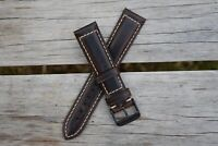 20mm Genuine Leather Watch Band Strap Handmade fits ALL BRANDS Rolex Tudor USA