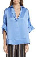 * NWT Roksanda Mai Cowl Neck Silk Blouse, Size 4 US / 8 UK - Purple $995