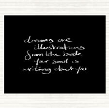 Black White Dreams Are Illustrations Quote Mouse Mat Pad