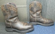 Mens ARIAT Workhog Wellington Waterproof Composite Toe Brown Work Boots 11 EE