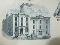 1888 Antique Document Flower City Soap Co. Rochester NY, Making White Swan Soap