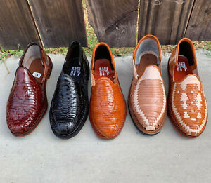 Men's Closed Toe Genuine Leather Mexican Huarache Sandals Mocasin - Closed Toe