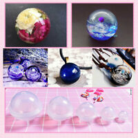 DIY 70 80 90 100mm Large Sphere Ball Silicone Mold Mould For Resin Casting