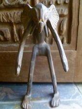 Vintage African Elephant Man Tribal Wood Carving Folk Art Sculpture