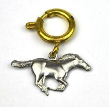 Vintage 1960er Pferde Charm Anhänger für Armband Kette - Rennpferd Racing Horse