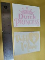 Dutch Bros Brothers Dutch Princess pink Dutch Mom yellow vinyl decal stickers