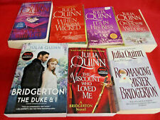 7 Julia Quinn Bridgerton Lot Near Complete PB Regency Romance Netflix #1245678