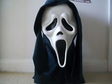 Horror Halloween Official Scream 4 latex Fun World scream mask and  hood