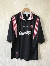 KAISERSLAUTERN 1996 1997 AWAY FOOTBALL SHIRT SOCCER JERSEY VINTAGE ADIDAS BLACK