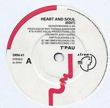 """T'Pau - Heart And Soul - 7"""" Single"""