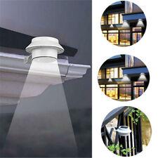 Outdoor Solar 3 LED Path Sensor Security Light Landscape Garden Yard Fence Lamp