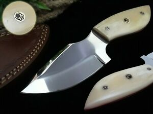 BEST HANDMADE STAINLESS STEEL HUNTING AND SURVIVAL KNIFE WITH CAMEL BONE HANDLE