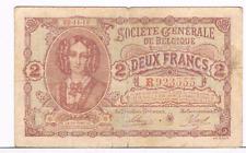 2 Frank/Franc  type   Generale Maatschappij     22.11.1916        Morin 6