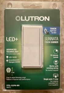 Lutron Sunnata Touch Dimmer STCL-153PH-WH White LED+ Advanced Technology White