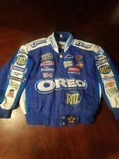 Chase Authentics Dale Earnhardt Jr NASCAR Jacket Oreo Medium Great Find!