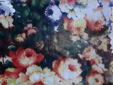 Pin-Up Vintage-Look Bouquet Flower Poly/Spandex Stretch Fabric By The Yard