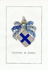 Araldica stemma araldico della famiglia Filangeri di Napoli