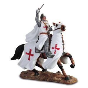 Kreuzritter mit Schwert nach oben auf Pferd Templer