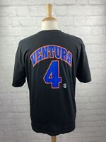 Rare Vintage 1998 MLB New York Mets #4 Robin Ventura Jersey T Shirt Size LG