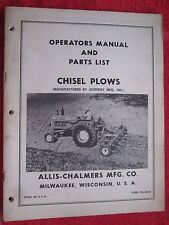 Vintage Allis Chalmers Jeoffroy Chisel Plows Operating Amp Parts Manual
