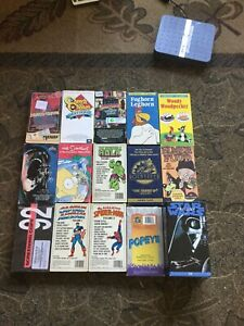 Vintage Vhs Lot Horror Demo Tape Pink Floyd Star Wars Marvel Cartoon