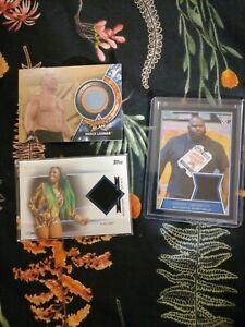 Bundle of WWE relic cards Brock Lesnar Mark Henry Naomi
